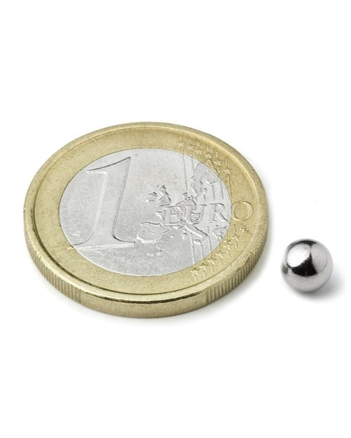 Magnet Supermočan, krogla, premera 5 mm