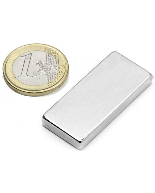 Magnet Supermočan Kvader  40 x 18 x 05 mm