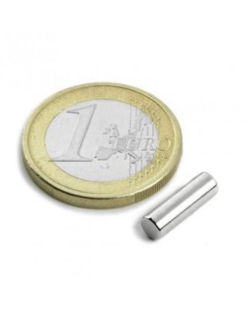 Magnet Supermočan valj, premera 4 mm x 12,5 mm