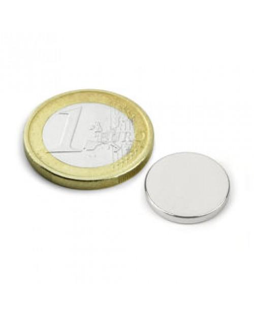 Magnet Supermočan okrogli, premera 15 mm x 2 mm