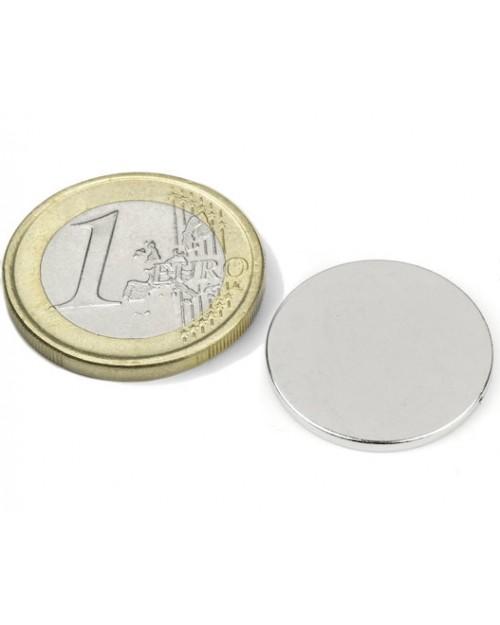 Magnet Supermočan okrogli, premera 20 mm x 1,5 mm