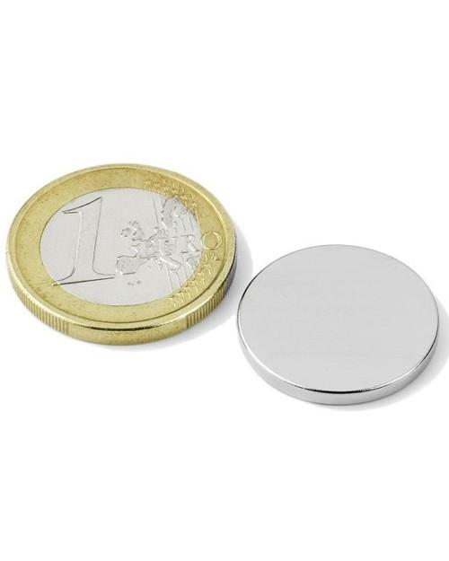 Magnet Supermočan okrogli, premera 20 mm x 2 mm