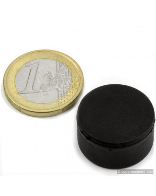 Magnet Supermočan okrogli, gumiran, premera 20 mm x 10 mm