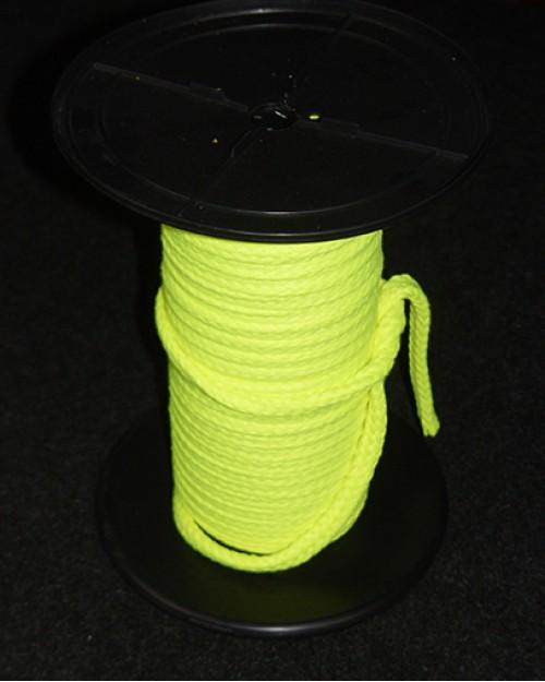 Mehka vrvica za čaranje, zelenorumena (žareča barva) Ø10 mm